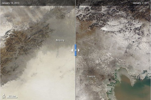 NASA, Earth Observatory, air pollution, China, Beijing