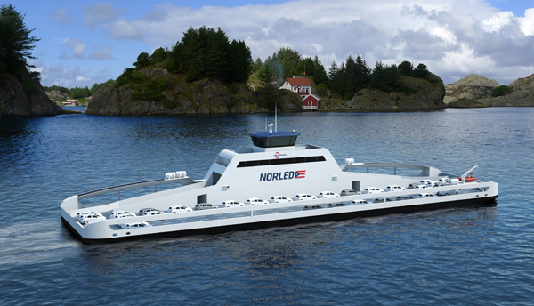ZeroCat electric ferry (image via Norled)