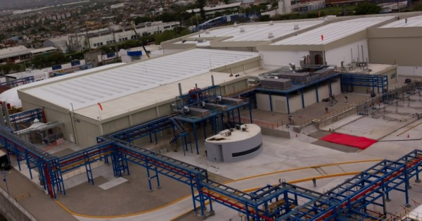 Unilever's Mexico plant includes a rooftop solar array and permeable concrete to reduce runoff. Image via Unilever.