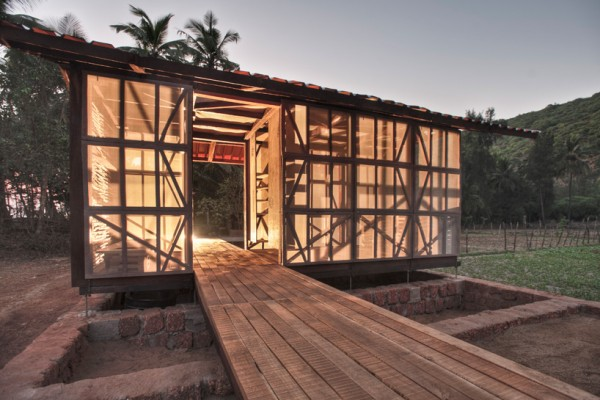 Hut-to-Hut concept for India's western Ghats region. Image by Pasi Aalto via Rintala Eggertsson Architects.