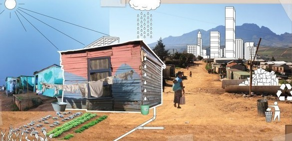 The iShack, developed with a grant from the Gates Foundation, can help bring renewable electricity to the slums of South Africa. Image via iShack Living.
