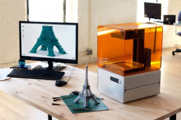 A Form 1 desktop 3D printer created by an MIT startup called Formlabs. Image via Formlabs.