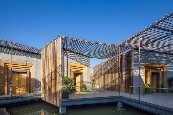 HWCD's Bamboo Courtyard Teahouse provides a contemplative, natural setting to enjoy the favorite drink in China. Image by TE Photography via HWCD.