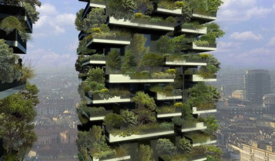 Artist's rendering of the completed Bosco Verticale. Image via Stafano Boeri Architetti.