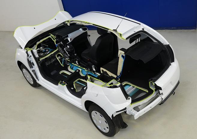 citroen hybrid air concept cutaway