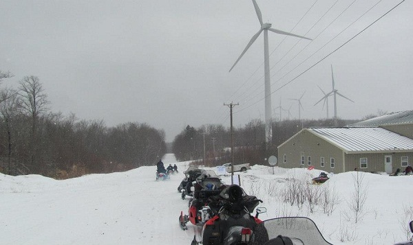 ride the wind wind power snowmobiles
