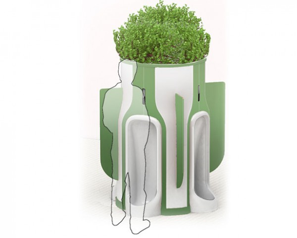 Eddie Gandelman, When Nature Calls, urinal, urine, urban green space, planter