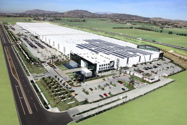 Artist's rendering of new Skechers distribution center in Rancho Belago, Calif. Image via Business Wire.