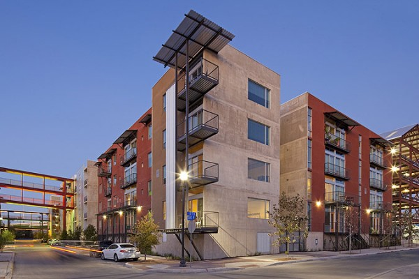 This mixed-used housing project in San Antonio was saved from the wrecking ball after sitting idle for years. Image by Chris Cooper via Lake|Flato Architects.