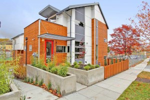 Unit 13 of Seattle's Columbia Station micro-community has passed the strict Passivhaus requirements for energy efficiency. Image by Tucker English via Dwell Development.
