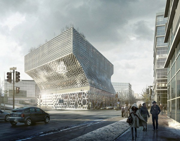 The planned Park 1 building in Stockholm. Image via White Arkitectur.