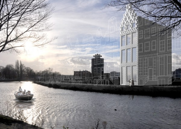 Artist's rendering of what the Canal House may look like when complete. Image via DUS Architects.