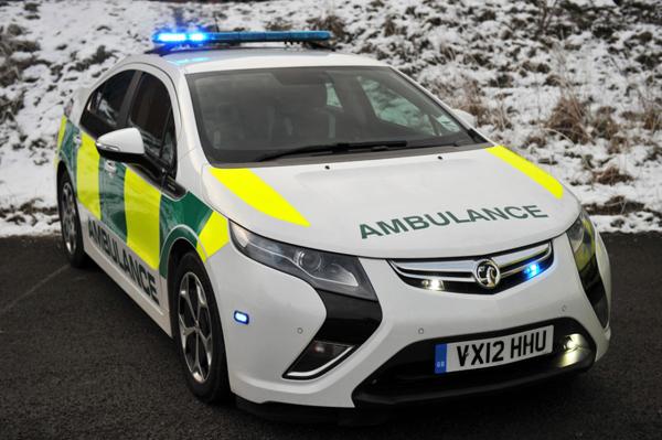 Vauxhall Ampera ambulance (image via Vauxhall)