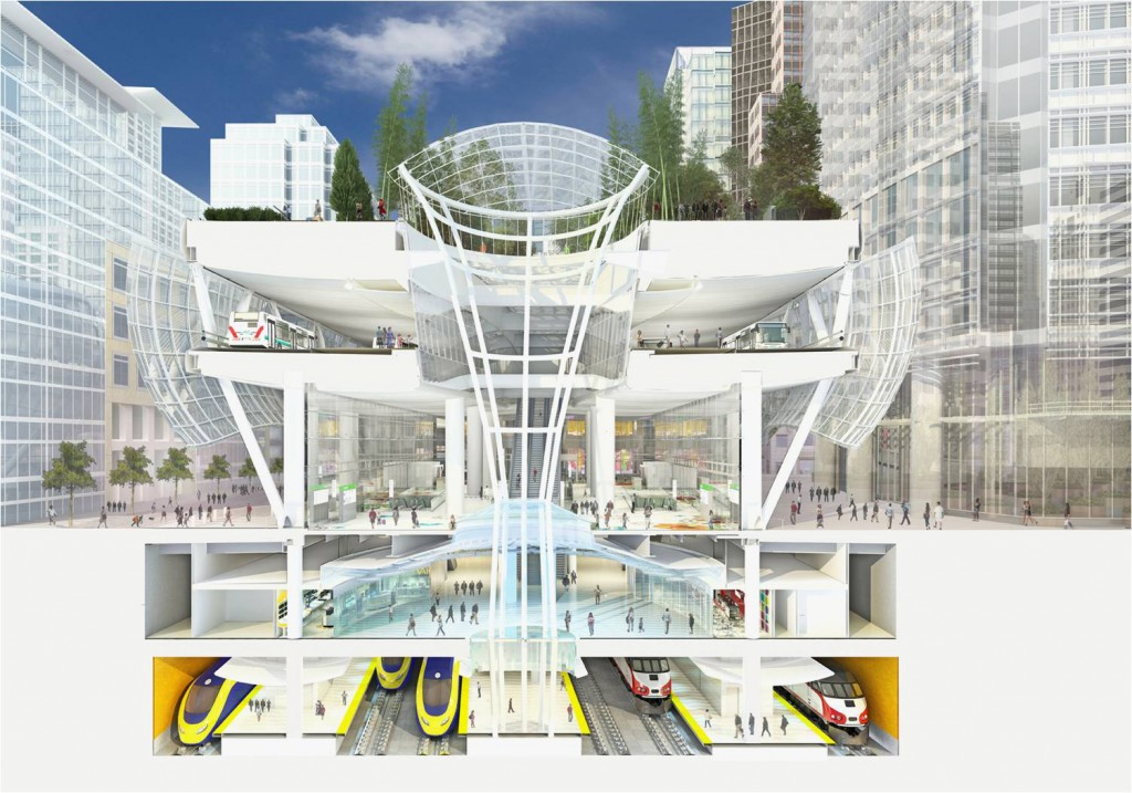 Transbay Transit Section View