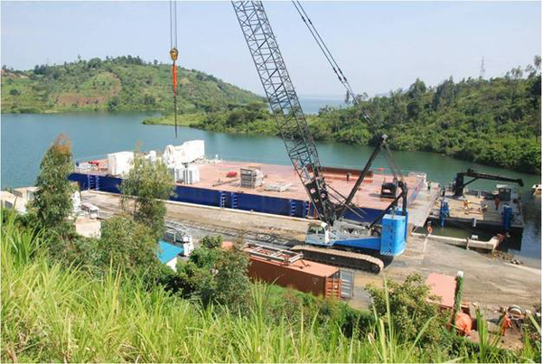 A barge for the Lake Kivu KivuWatt project in Rwanda (image via Rwandan government)