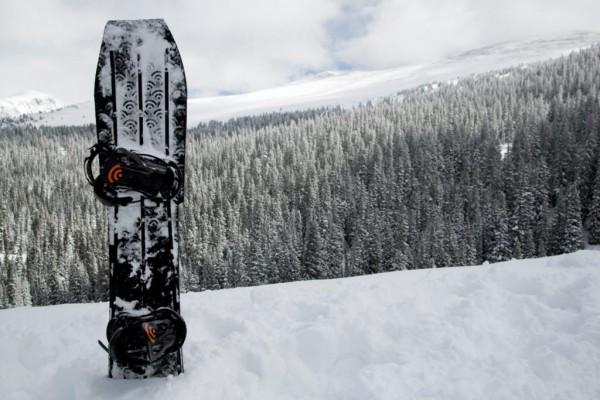 3D printed snowboard