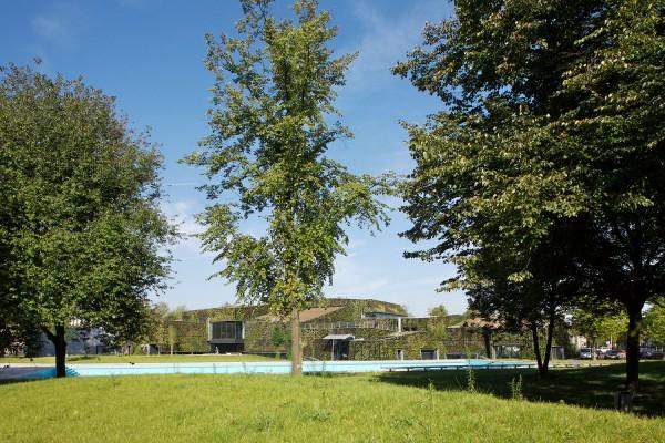 From afar, the complex resembles an overgrown ancient castle. Image via VenhoevenCS.