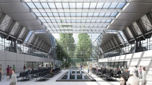 The outdoors will merge as much as possible with the indoors in gmp's design. Image via gmp Architekten.