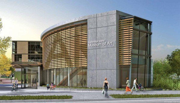 The LEED Gold-certified Bainbridge Art Museum near Seattle is expected to open in June. Image by Coates Design via BIMA.