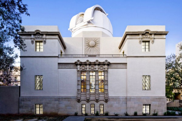 CalTech's Robinson Laboratory, with its historic solar telescope, was built in 1932. Image via Architectural Resources Group.