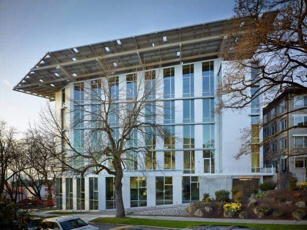 The new Bullitt Center, after its official opening on Earth Day. Image via the Bullitt Foundation.