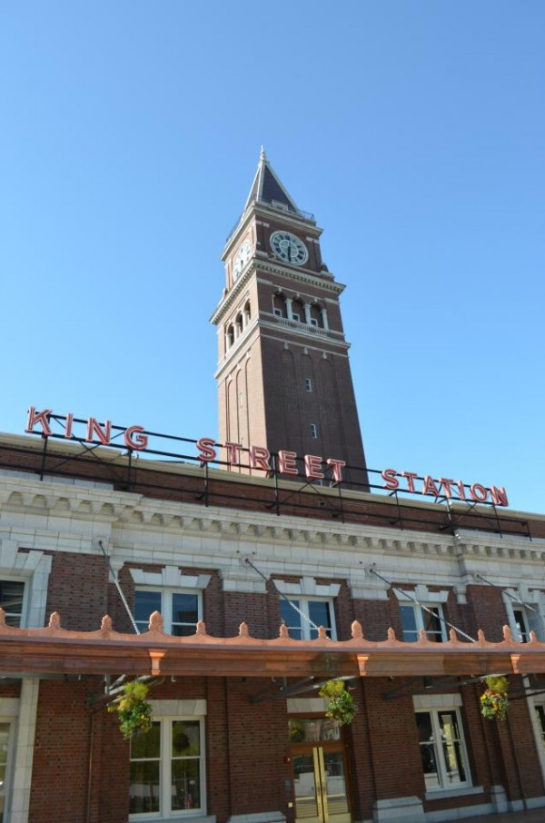 Seattle's seismically retrofitted King Street Station campanile, built in 1906. Image via Amtrak Cascades.