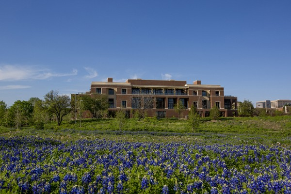 Some of the native wildflowers and other greenery on the library's 15-acre campus. Image via George W. Bush Presidential Center.