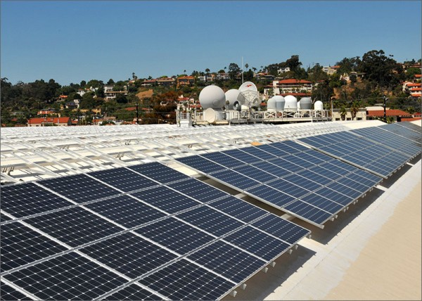Navy solar panels