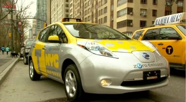 Nissan LEAF taxi NYC