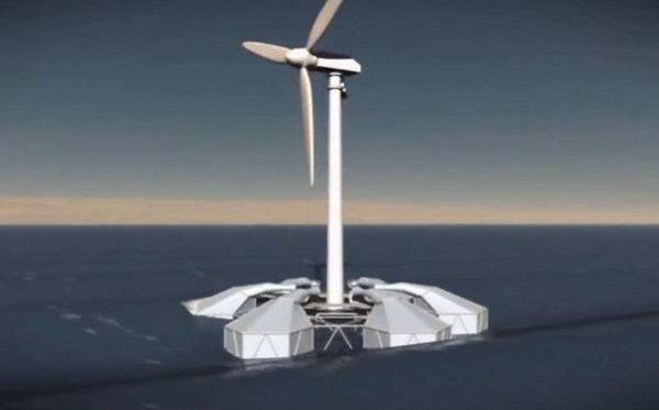 offshore wind power wave energy Energy Island