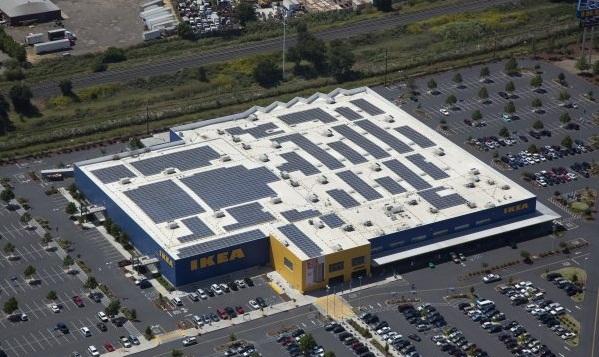 West Sacramento, Calif., Ikea solar installation. (image via Ikea)