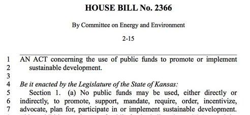 kansas sustainable development bill