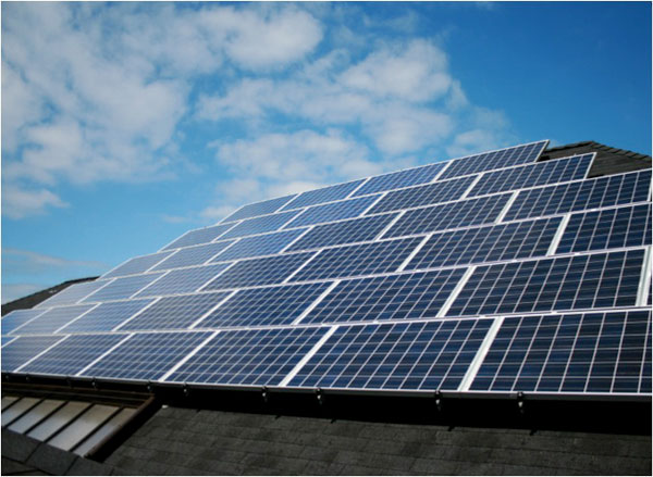On the roof, a 30 kW solar array provides electricity for the school. Image via Bertschi School.