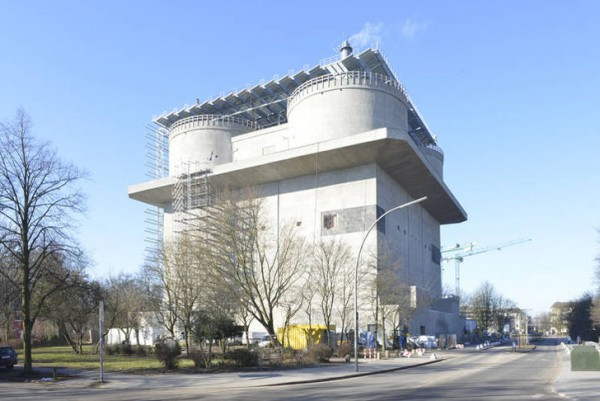 The conversion of a German former WWII bunker into a renewable energy facility is nearly complete. Image via IBA Hamburg.