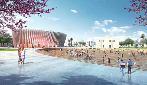 Part of the design calls for an elliptical 1000-seat auditorium for concerts, theater performances, film screenings and exhibitions. Image via Jordi Henrich I Monràs.
