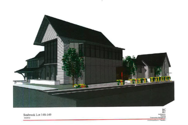 Computer drawing of completed Idea Town house. Image via Seabrook.