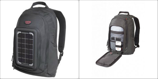 Voltaic Solar Converter Backpack collage