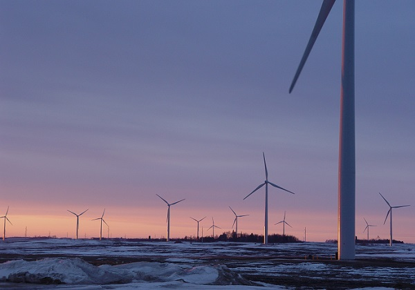 A Minnesota wind farm (image via Wikimedia Commons)