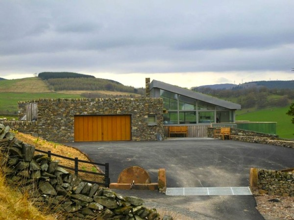 Three Glens in Scotland is built mostly from materials found on the farm. Image via Mark Waghorn Architects.