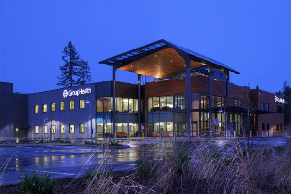 The new GroupHealth facility in Puyallup, Wash., is the first in the nation to receive the LEED-HC designation. Image via CollinsWoerman.