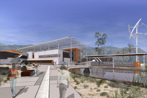 Artist's rendering of the planned West Valley campus that will cater to 3,400 students. Image via HGA Architects and Engineers.