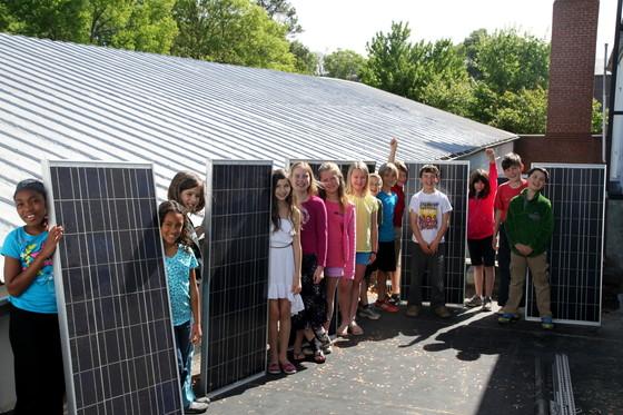 NC solar classroom Aaron Sebens