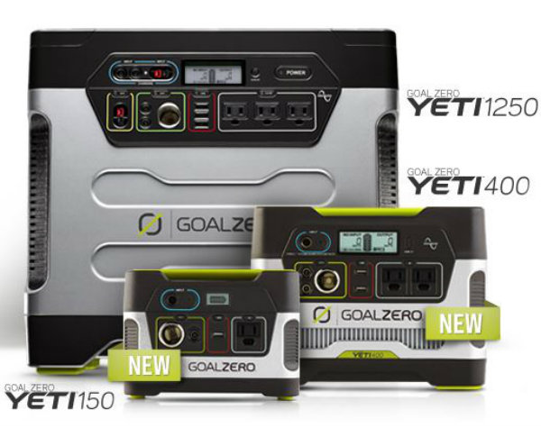 Yeti Solar Charger Family