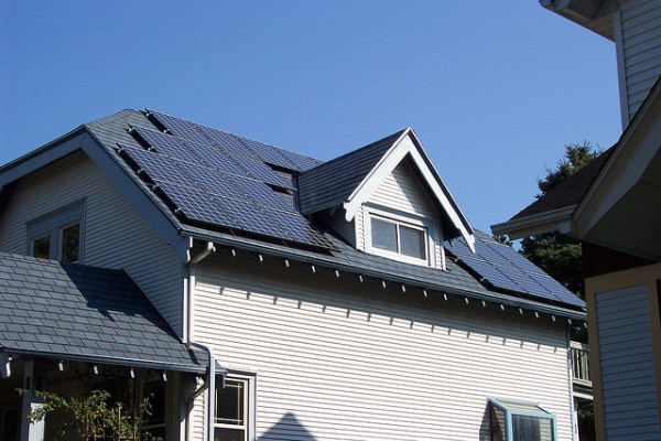 part of a 7.2 kW rooftop solar system in Bayview, WI (image via Matt Montagne/Flickr)
