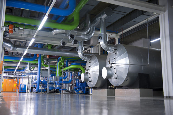 A combined heat and power unit in Germany. (Photo by Bilfinger SE via Creative Commons)