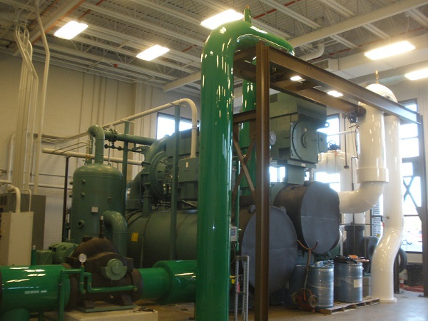 The geothermal pump house at Ball State (image via