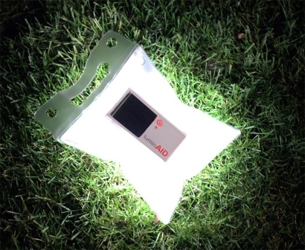 LuminAid solar lamp
