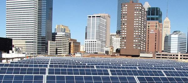 Solar at the Minneapolis Convention Center (image via Meet Minneapolis)