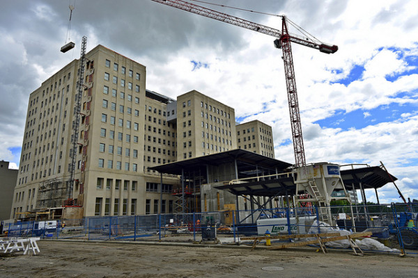 federal building under construction