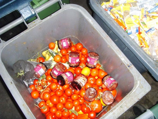 Food Waste In Trash Cans